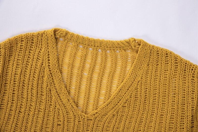 Everkaki Women Solid Knit Boho Sweaters Pullovers Long Sleeve Standard Cardigans Bohemian Holiday Female 2018 Autumn New (16)