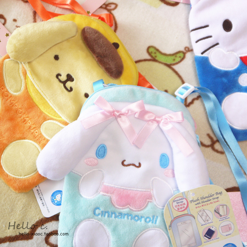 New Cartoon Hello Kitty My Melody Cinnamoroll Dog Plush Bag Children Purse  Girls Plush Wallet Shoulder Phone Bags For Kids Gift-in Shoulder Bags from  ... 96768eb16cdbe