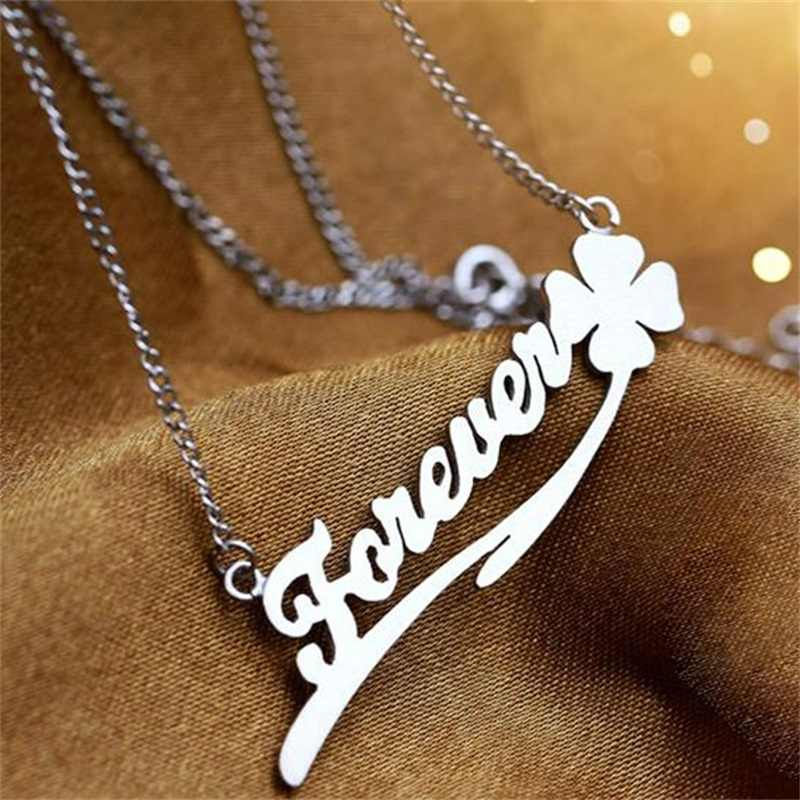 Fashion Letter Necklace Name Necklaces & Pendants Custom 925 Silver Jewelry Personalized Initial Necklace Handmade Birthday Gift