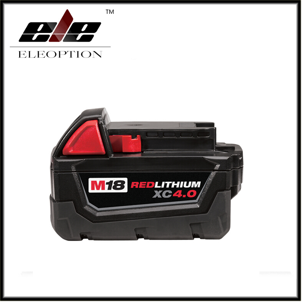 Eleoption M18 18V 4000mAh Li-ion Battery For Milwaukee M18 48-11-1828 48-11-1840 18V 4A Electrical Drill lithium-ion Battery