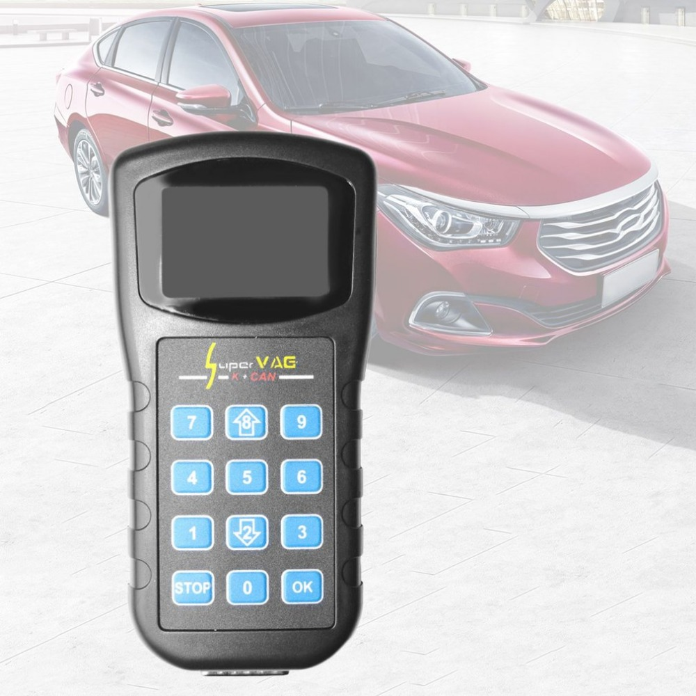 Professional Car Supervag Super Vag K+ Can Scanner V4.8 Diagnostic Coding Reader + Programming + Odometer Correction Tool for VW new version v2 13 ktag k tag firmware v6 070 ecu programming tool with unlimited token scanner for car diagnosis