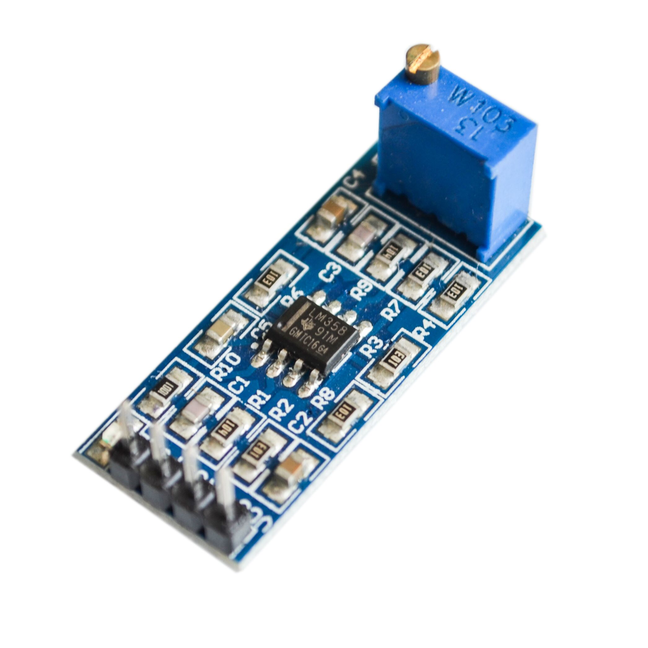 Lm358 100 Times Gain Amplification Module Operational Amplifier Thermometer Circuit Schematic Using Amplifiers In Integrated Circuits From Electronic Components Supplies On