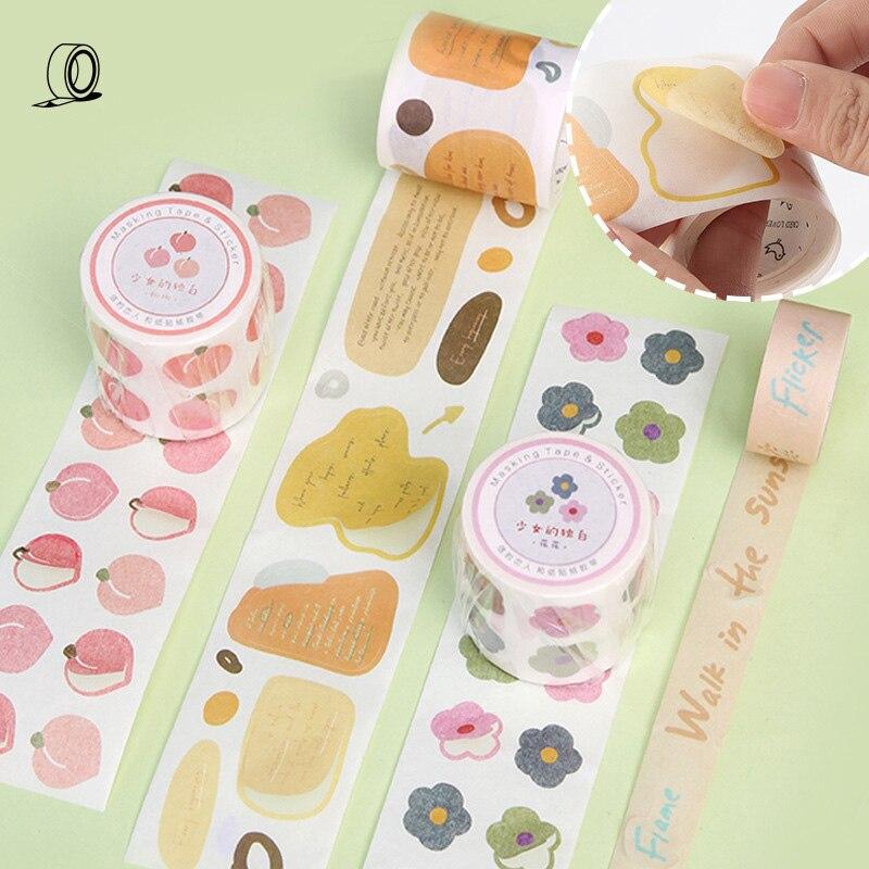 Mohamm Masking-Tape Journal-Supplies Paper-Stationary Scrapbooking Girls Cute Monologue-Series