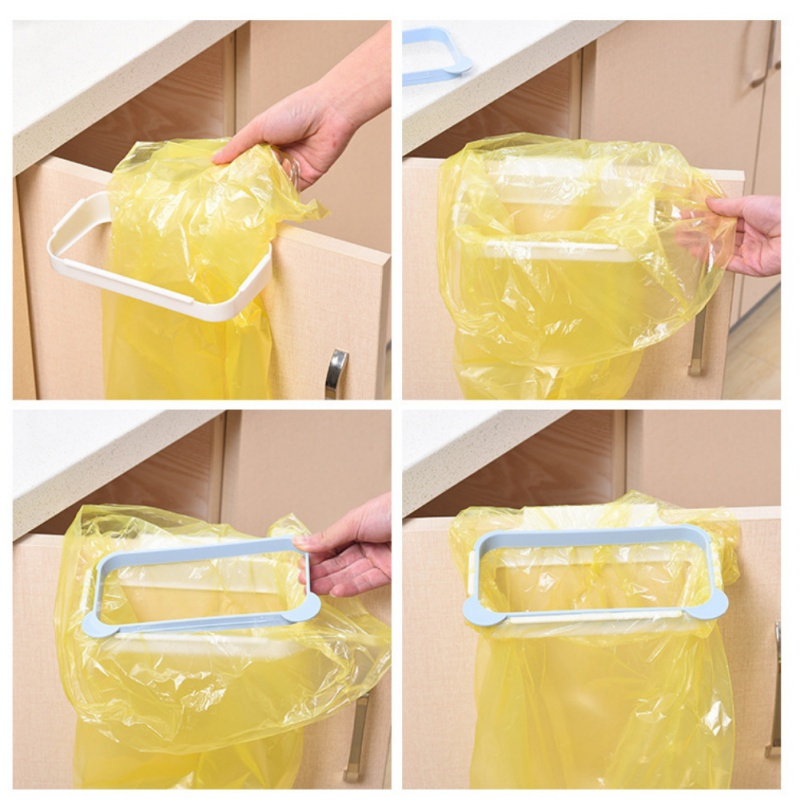 Kitchen Cupboard Hook Type Cabinet Tailgate Stand Storage Garbage Bags Rack Gadgets Holders Garbage Bags New 2018jjps