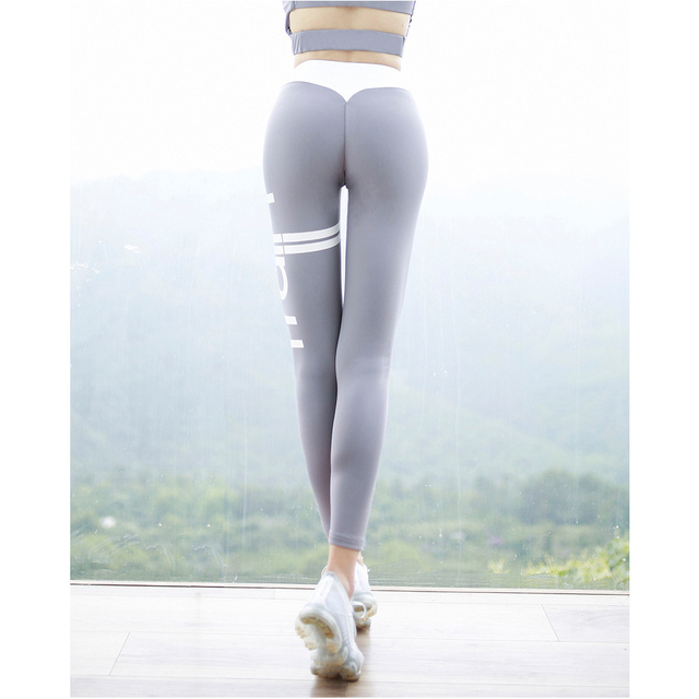f99061ccb0f29 Womens Sports Leggings Yoga Pants Fitness Pilates Elastic Leggings Running  Workout Gym Clothes Sports Tight Sportswear Plus Size