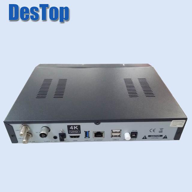 1pc 4K UHD Zgemma H7S 2xDVB-S2X+DVB-T2/C HEVC H 265 4K satellite receiver  Linux Enigma 2 IPTV BOX 12,000 DMIPS CPU PROCESSOR