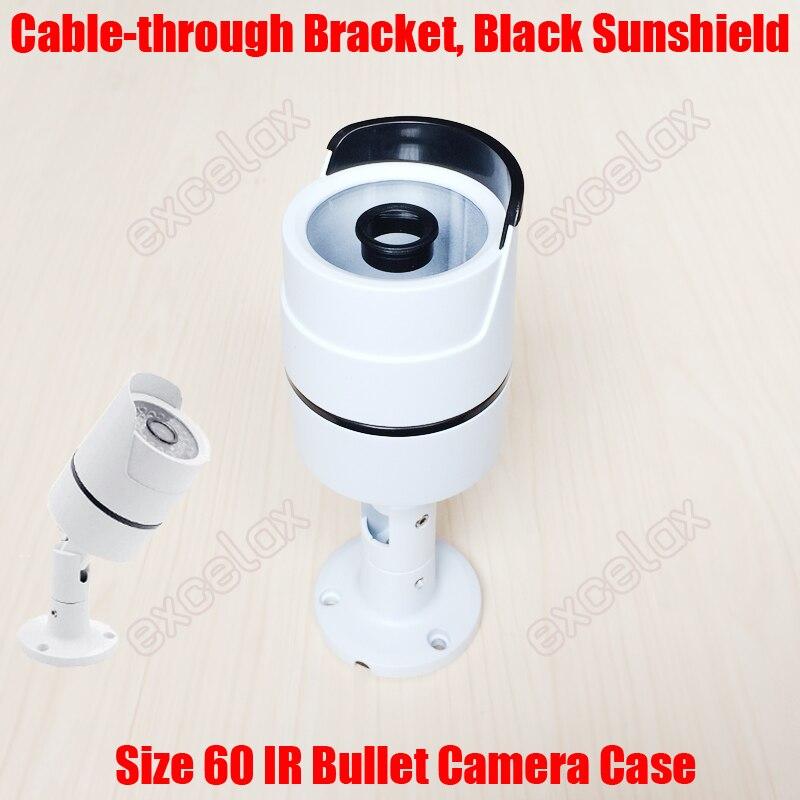 imágenes para 60mm cable de soporte de protección cubierta de tubo de aleación de aluminio caja de la cámara del cctv ir impermeable de la bala ip66 al aire libre para 36x led junta