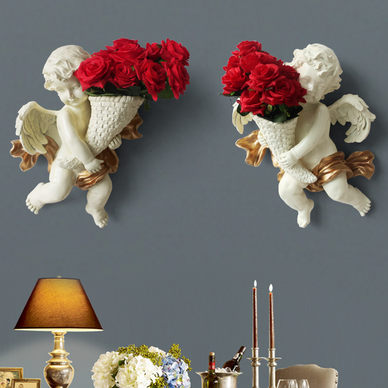 European Angel Stereo Wall Hanging Creative Living Room TV Background Wall Pendant Home Decoration nordic decoration homeEuropean Angel Stereo Wall Hanging Creative Living Room TV Background Wall Pendant Home Decoration nordic decoration home