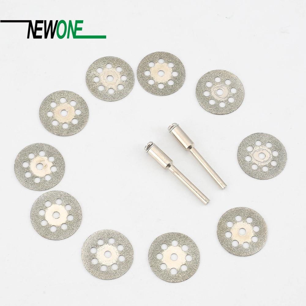 10Pcs 22mm Rotary Tool Accessory Diamond Cut Off Wheel Disc Fits Proxxon Dremel Rotary Tools Craftsman