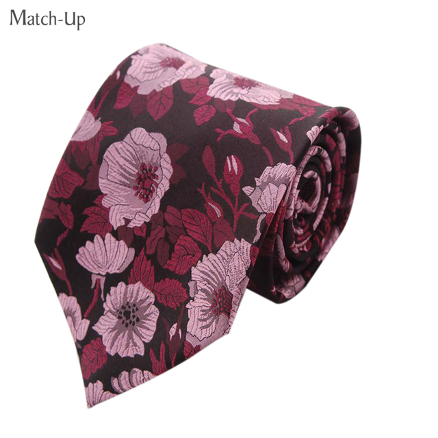 2016 nuevo patrón de flores de seda 9 CM de Ancho de alta calidad corbata de seda 6