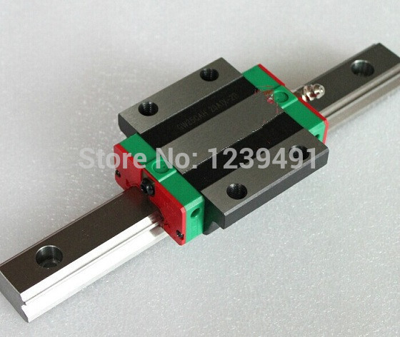 1pcs original hiwin linear rail HGR25 L1500mm with 2pcs HGW25CA flange block cnc parts in Linear Guides from Home Improvement
