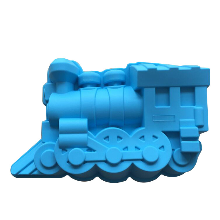 Train railway engine Mold Silicone Mold Cake Mold Cake Tools Baking Tools E166