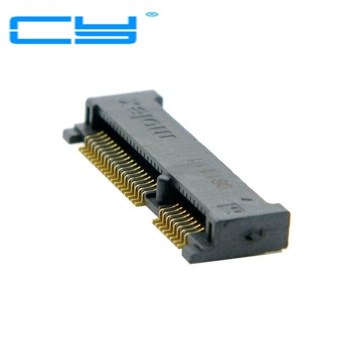 Mini PCI E pci express pcie mSATA 52pin 4 0mm Height Receptacle female socket connector font