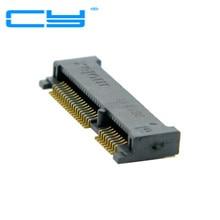 Mini pci-e PCI Express PCIe mSATA 52pin 4.0 мм высота Розетка Гнездо разъем адаптера монтажа на плате SMT для SSD