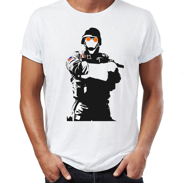 Men's T Shirt Rainbow Six Siege Fuze Caveira Thermite Black and White Gaming Badass Artsy Tee-in T-Shirts from Men's Clothing & Accessories on ...