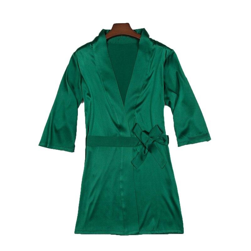 Nachtjapon Vrouwen Pyjama Thuis Slaap Slijtage Lingerie Zijde Zeven Dimensionale Mouw Nachtjapon Zijde Badjas Huis wear OCSP 003