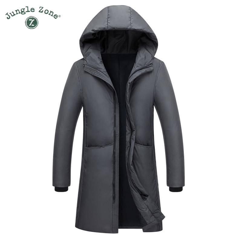 2018 Novo Longa Pode Suportar-20 Graus Homens Jaqueta de Inverno Grande Gola De Pele Verdadeira Com Capuz Duck Down Jacket Grande tamanho 2XL 3XL 7805