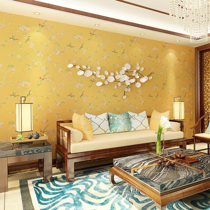 € 30.38 12% de réduction PAYSOTA nouveau moderne classique style chinois  papier peint chambre salon canapé TV réglage Non tissé papier peint dans ...