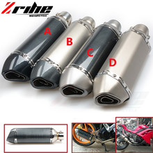 for Universal Motorcycle Muffler Exhaust Pipe R1 R3 R6 FZ1 FZ6 TMAX CBR CB400 Z750 Z800 GSXR ER6N ER10N RACING mt07 mt 09 mt10
