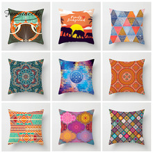 Fuwatacchi Mandala Painted Cushion Cover Elephant Geometric Woven  Pillow Cover Throw Home Decor Sofa Pillowcases цены