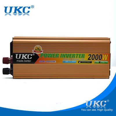 CE 2000W Автомобильный модифицированный синусоидальный инвертор, преобразователь, зарядное устройство для автомобиля DC 12V в AC 220 v, конвертер USB с автомобильным прикуривателем