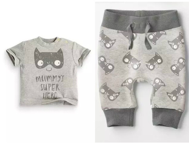 Retail 2015 spring infant clothes baby clothing sets boy Cotton little monsters and the lions short sleeve 2pcs baby boy clothes