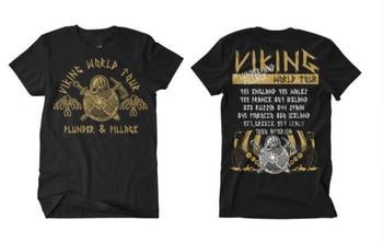 Viking World Tour T shirt Men Viking Warriors Odin 100% cotton casual gift tee USA Size  2