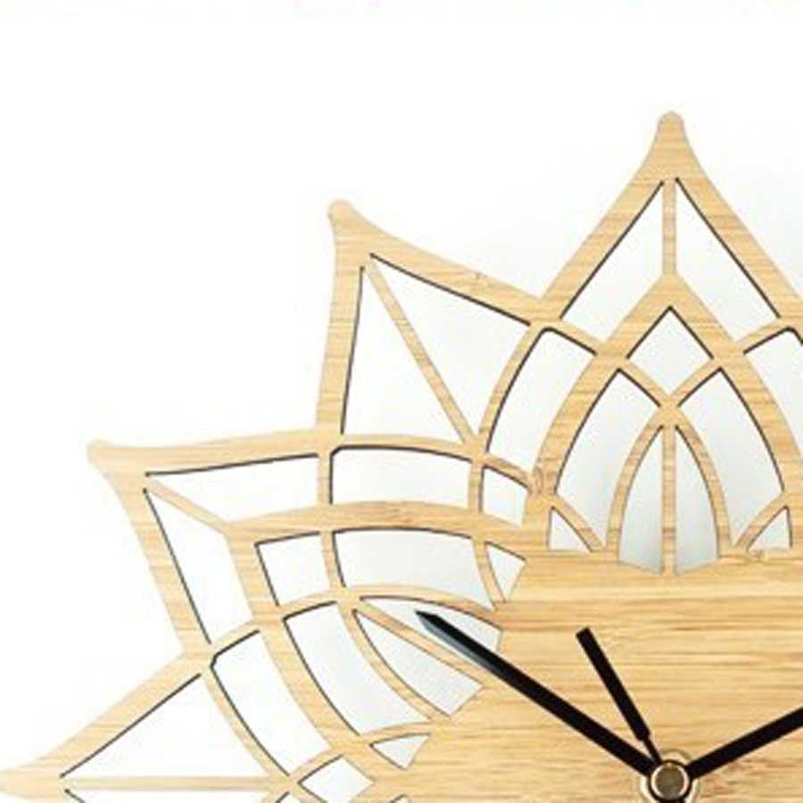 Wooden Wall Clock Simple Modern Design Decorative Living Room ...