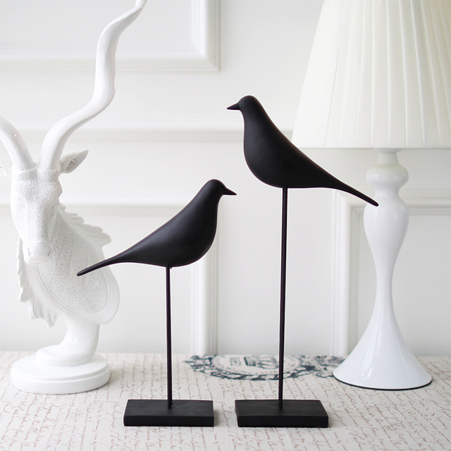 Some New USA Black Bird Art Decoration Resin Home Furnishing Decor D0041