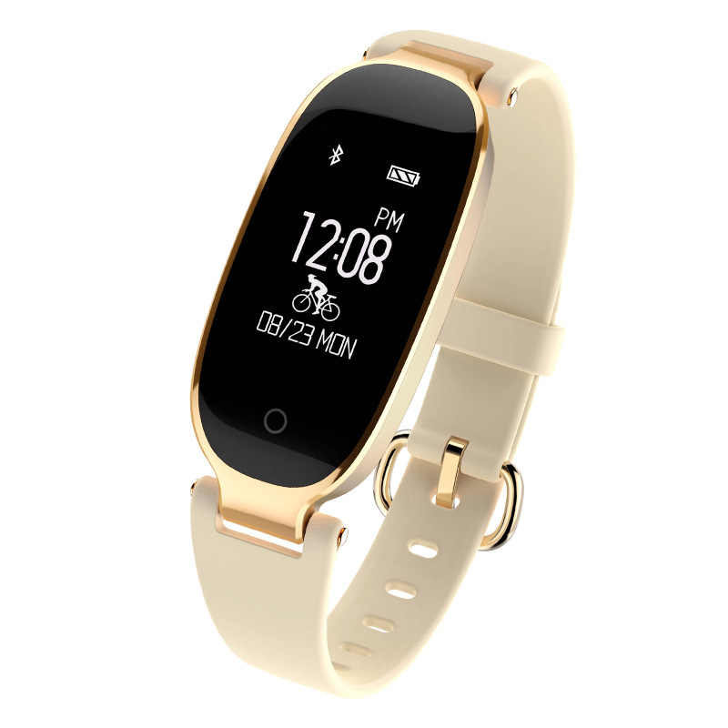 ... Bluetooth S3 Smart Waterproof Watch Fashion Women Ladies Heart Rate  Monitor Fitness Tracker Smartwatch Android IOS 43c8f0bd47