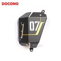 DOCONO Motorcycle Accessories CNC Aluminium Engine Radiator Protective Guard Engine Radiator Cover Protection For Yamaha MT07