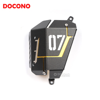 DOCONO Motorcycle Accessories CNC Aluminium Engine Radiator Protective Guard Engine Radiator Cover Protection For Yamaha MT07