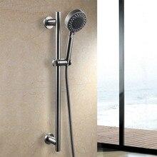 Ванная комната, Душ Комплекты Три Функции Ручной Душ Головы с Регулируемым Slide Bar, Нержавеющая Сталь Цвет LYTZ022