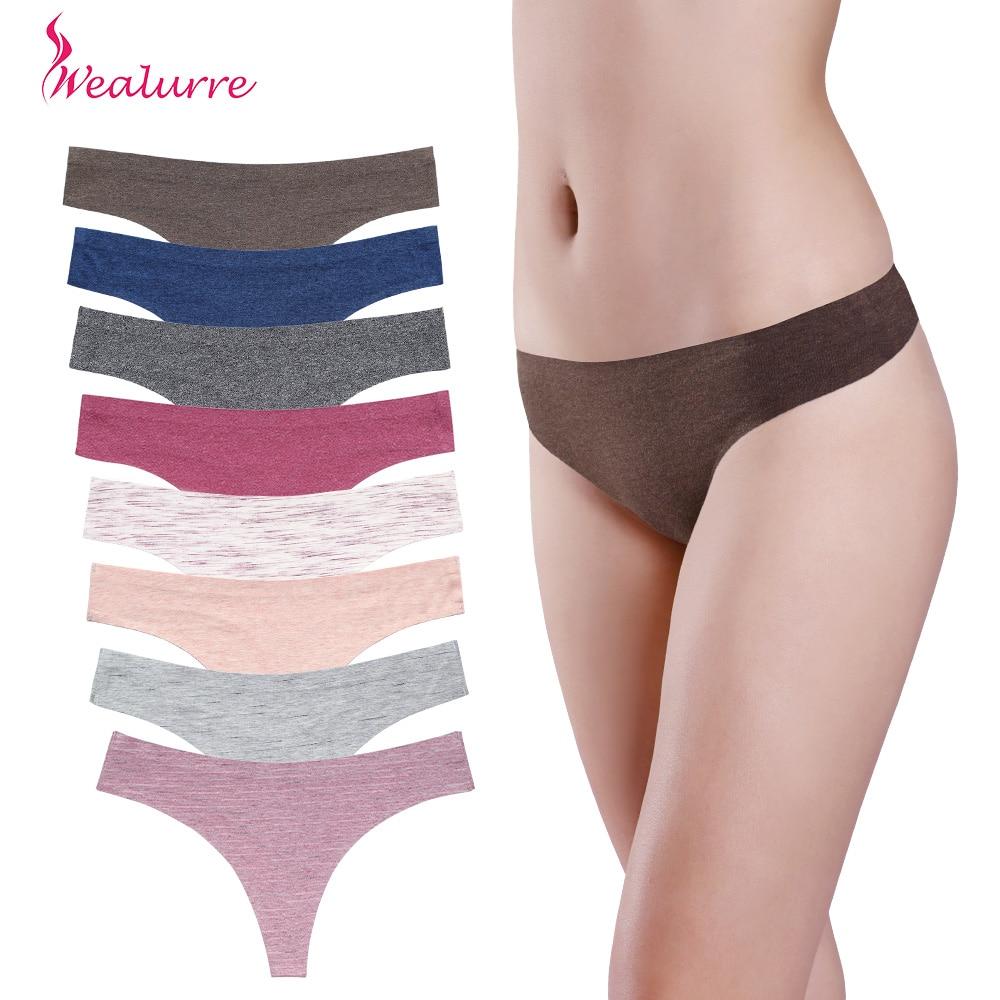 4Pcs/lot Women Sexy Thongs Cotton   Panties   Strings Seamless G-strings female Underwear Intimates Lingerie Ladies Tangas for girl