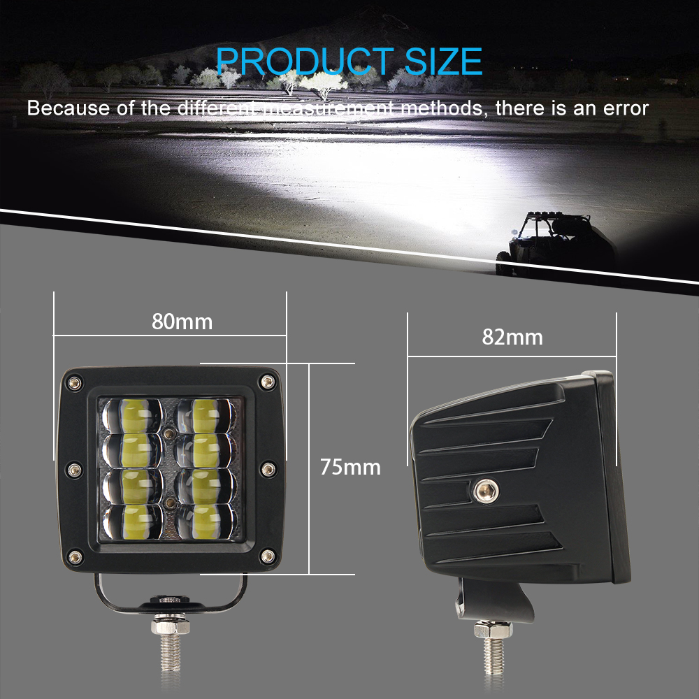 Image 3 - CO LIGHT 9D 80W Car Led Light Bar 3inch Work Light Flood Led Beams DRL 12V 24V for Jeep Tractors Boat 4x4 Truck SUV ATV Fog Lamp-in Light Bar/Work Light from Automobiles & Motorcycles