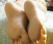 Newly solid silicone feet model sex products real doll man foot fetish toys free shipping