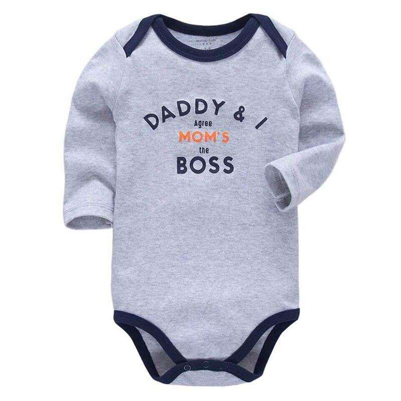 Baby Boys Bodysuit Newborn Babies Girls Body 3 6 9 12 18 24 Months Infant Long Sleeve Bodysuits