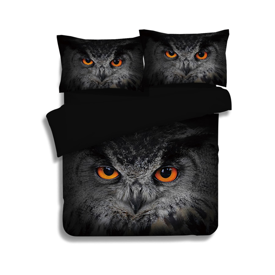 Owl American Flag Eagle 3D Bird Printed Bedding Set Twin Queen King Size Duvet Cover Bed Sheet Pillow Case Home Textile SetsOwl American Flag Eagle 3D Bird Printed Bedding Set Twin Queen King Size Duvet Cover Bed Sheet Pillow Case Home Textile Sets
