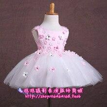 Рождественские костюмы женские Корейских детей принцесса платье детей платье девушки цветка пачки женский производительность одежда