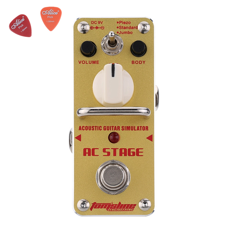 AAS-3 AC STAGE Acoustic Simulator Guitar Effect Pedal Aroma Mini Single Pedals Effects With True Bypass aov 3 ocean verb digital reverb electric guitar effect pedal aroma mini digital pedals with true bypass guitar parts