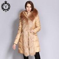 COUTUDI 2017 Fashion Wholesale Women Jacket Detachable Faux Fur Line Warm Overcoat Female Winter Khaki Parka
