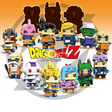 цена на DRAGON BALL super Saiyan Brickheadz Son Goku Vegeta Frieza Cell compatible with Legos Brick headz Model Building Block Brick Toy