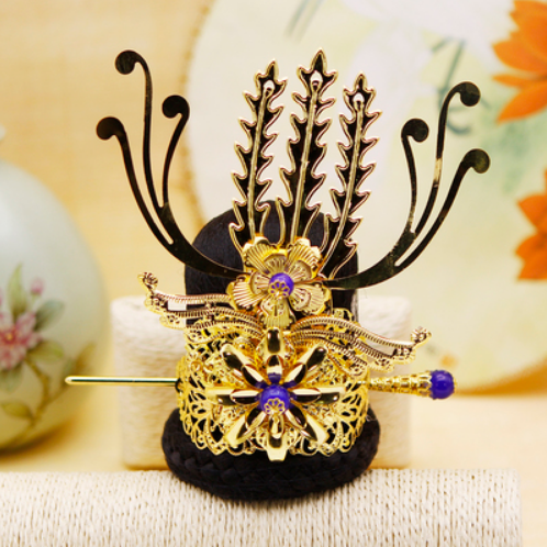 Boys Costume Accessories Vintage Hair Accessories Chinese Ancient Dynasty Warrior Cosplay Prince Cosplay Head Wear Prince Crown Emperor Crown King