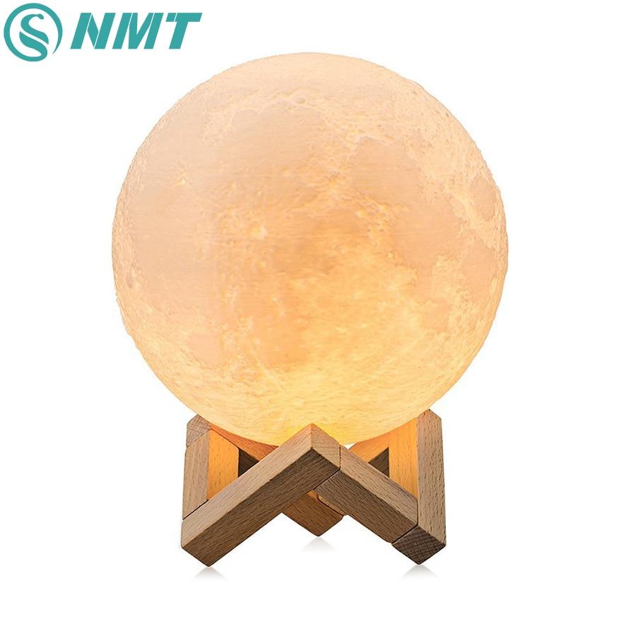 Dropshipping 3D Print Mond Nacht Lampe Bunte Ändern Touch Schalter USB Aufladbare LED Nacht Licht Wohnkultur Kreative Geschenk