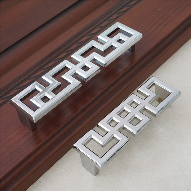 Silver Door Handle Dresser Pulls Handles S Chinese Style Cabinet Kitchen Cupboard Bling Hardware