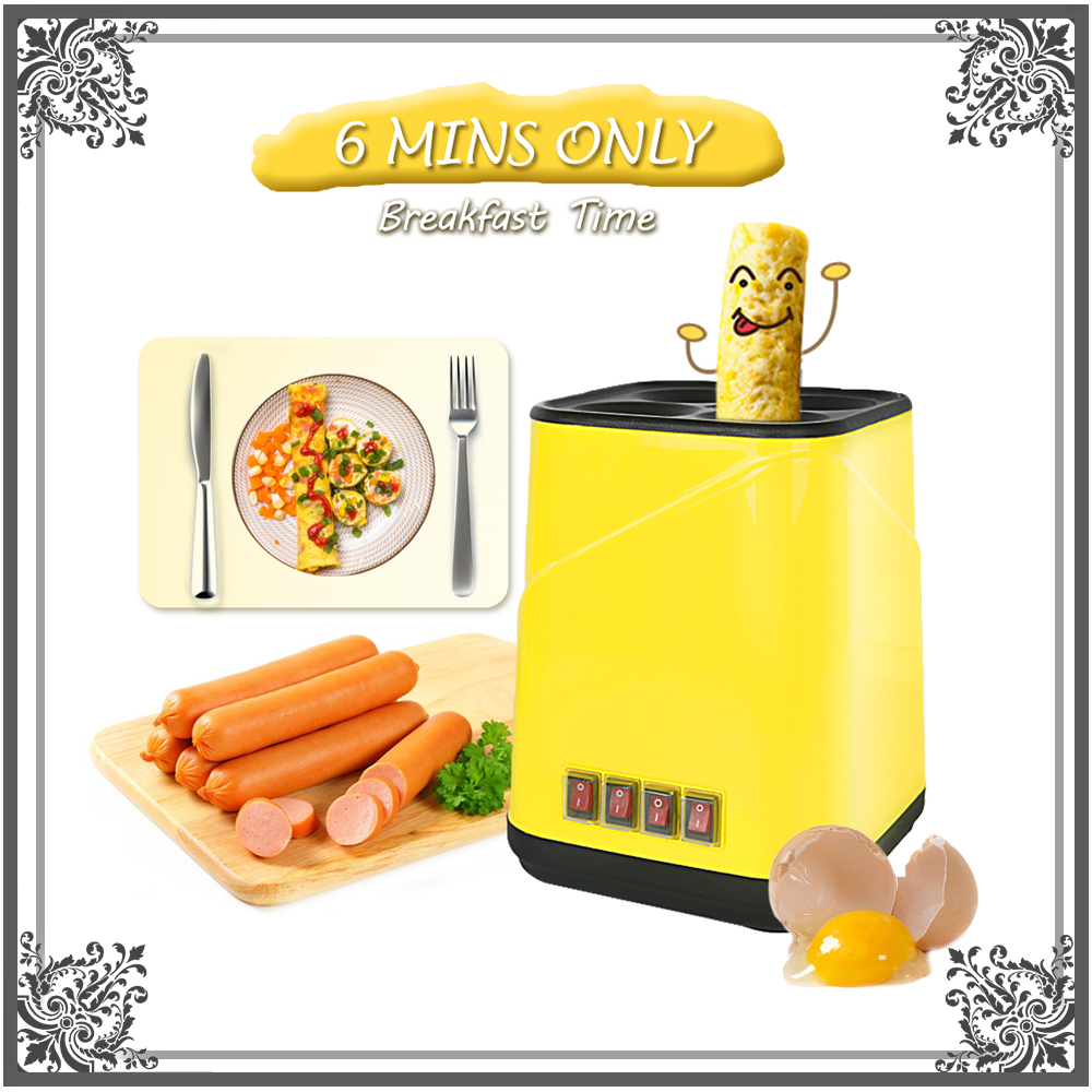 Automatic Electric Egg Roll Maker Egg Boiler Non-stick Egg Cup Omelette Sausage Machine Breakfast Machine 2017 lpg 10 tubes egg sausage maker korean roll maker barbecue pill maker eggs roll sausage machine