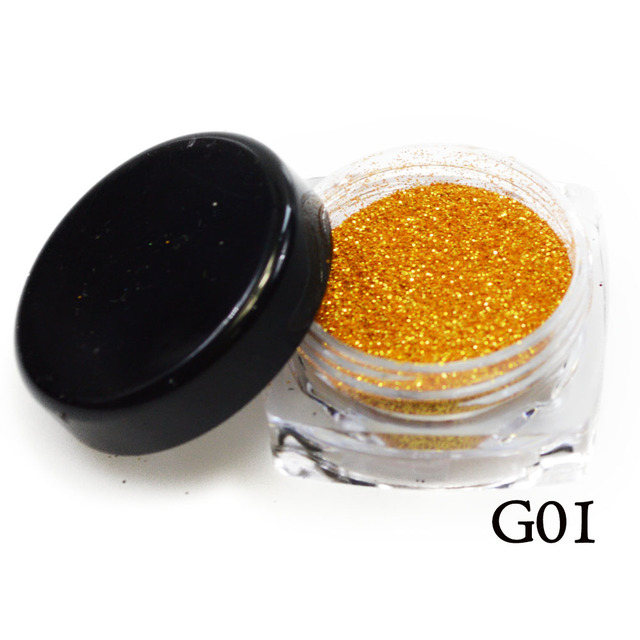 1 Bottle Shining Gold Silver Nail Glitter Powder Dust 3D Sequins For Nail Art Dust Flakes Decorations UV Gel Polish Tips BEGS 1