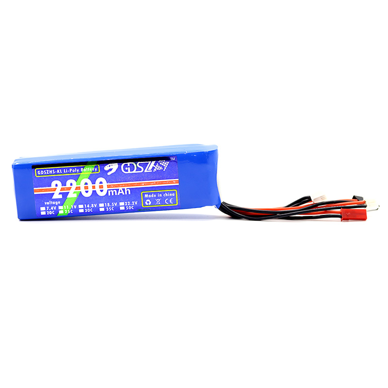 B6FPV <font><b>11.1V</b></font> <font><b>2200mAh</b></font> 3S 1C <font><b>Lipo</b></font> Battery for Frsky X9D Plus Futaba T8FG Radiolink AT9S Radio Transmitter RC FPV Racing Drone image