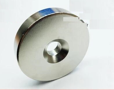 1pc 50x10 Strong Round Countersunk Ring Magnet 50mm x 10mm Hole 8mm N50 Rare Earth Neodymium Magnet free shipping 50*10-8 strong 1 2 1 5 1 8