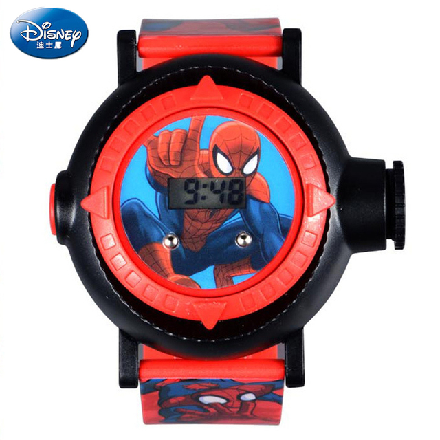 Spider chivalrous Toy watch Disney Children Boy Electronic watches creativity Projection wristwatch Student safety series